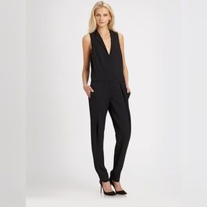 A.L.C. King Sleeveless Black Jumpsuit